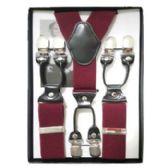 12 of Solid Suspenders Burgundy