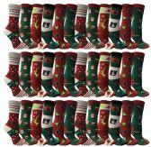 36 of Christmas Printed Socks, Fun Colorful Festive, Crew, Sock Size 9-11