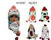 36 of Winter Kids 3 Piece Warm Animal Hat Set With Fleece Lining