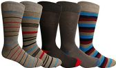 Yacht&Smith 5 Pairs of Mens Dress Socks, Colorful Fun Pattern Design, Casual (Assorted K)
