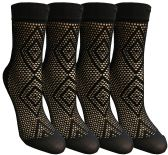 4 of Yacht & Smith Fishnet Ankle Socks, Mesh Patterned Anklet Sock (Pack B)