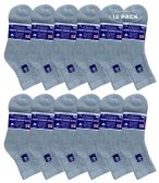 6 of Yacht & Smith Women's Diabetic Cotton Ankle Socks Soft Non-Binding Comfort Socks Size 9-11 Gray