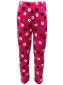 Yacht & Smith Women's Butter Soft Fleece Fuzzy Lounge Pants One Size Lips Print (Lips Print)