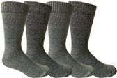 4 of Mens Merino Wool Socks, Twisted Yarn, Comfort Knit, Premium Moisture Wicking Wool