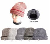 24 of Winter Warm Beanie With Faux Fur Lining