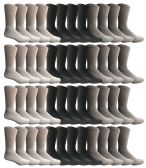 60 of Yacht & Smith Men's Sports Crew Socks, Assorted Colors Size 10-13 BULK PACK
