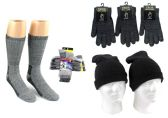 180 of Adult Merino Wool Combo - Hats, Gloves, And Socks