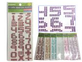 288 of 27pc Stickers Gemstone Numbers