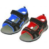 24 of Boys' Velcro Strap Sandals