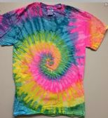 12 of Tie Dye T Shirt Pastel Rainbow Assorted Sizes