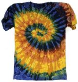 12 of Tie Dye T Shirt Galaxy Multicolors Assorted Sizes