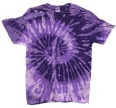 12 of Tie Dye Purple Short Sleeve Shirts Assorted