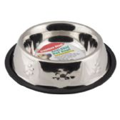 24 of Pet Bowl Stainless Steel 32 Oz 3.75 Cups Anti-skid 210g 7.08 X 10.03