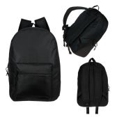 "24 of 17"" Kids Basic Black Backpack"