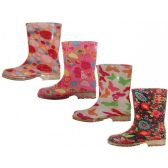 24 of Toddler's Water Proof Soft Rubber Rain Boots