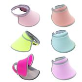 24 of Women's Sun Hat Visor Shield in 6 Assorted Colors