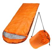10 of Wholesale Polyester Hollow Fiber Heavy Duty Hooded Sleeping Bag in Orange