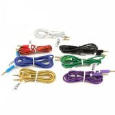 48 of Wholesale Round Wire Auxiliary Cable in 7 Assorted Colors