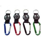 48 of KEYCHAIN CARABINER WITH COMPASS