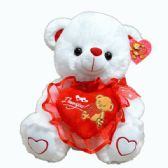 24 of WHITE BEAR WITH RED HEART