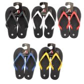 50 of Men's Rubber Thong Colored Strap Flip Flop