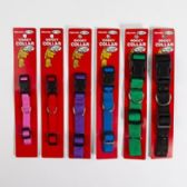 96 of Dog Collar Assorted Solid Colors