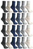 60 of SOCKS'NBULK Womens Crew Socks, Bulk Pack Assorted Chic Bobby Socks, Multicolored