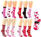 24 of Valentine's Day Crew Socks - Size 9-11