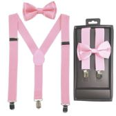 12 of Kids Suspenders And Bowtie Set In Light Pink