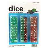 10 of 48 Piece Colored Dice