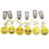 48 of Assorted Emoji Face Bling Key chain