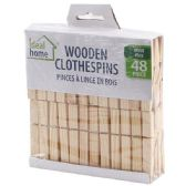 48 of 48 Piece Wooden Clothes Pins