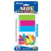 72 of BAZIC Neon Eraser Sets ( 15/Pack)