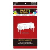 24 of Rectangle Red Plastic Table cover