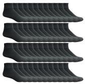 60 of Mens SOCKS'NBULK Premium Cotton Sport Ankle Socks Size 10-13 Solid Black