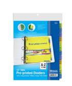 48 of BAZIC 3-Ring Binder Dividers w/ 12-Preprinted A-Z Tab