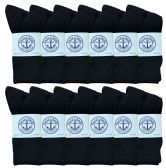 60 of Yacht & Smith Women's Premium Cotton Crew Socks Black Size 9-11 BULK PACK