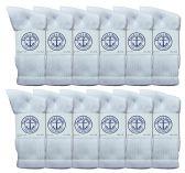 60 of Yacht & Smith Women's Premium Cotton Crew Socks White Size 9-11