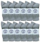 60 of Yacht & Smith Women's Premium Cotton Crew Socks Gray Size 9-11 BULK PACK
