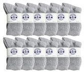 60 of Yacht & Smith Kids Premium Cotton Crew Socks Gray Size 6-8