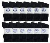 60 of Yacht & Smith Kids Premium Cotton Crew Socks Black Size 6-8 BULK PACK
