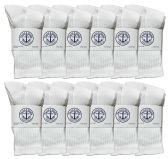 60 of Yacht & Smith Kids Premium Cotton Crew Socks White Size 6-8 BULK PACK