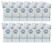 60 of Yacht & Smith Kids Premium Cotton Crew Socks White Size 4-6 BULK PACK