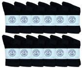 60 of Yacht & Smith Kids Premium Cotton Crew Socks Black Size 4-6 BULK PACK