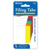 72 of BAZIC 6 Ct. 2 x 1.5 Filing Tabs (5/Pack)