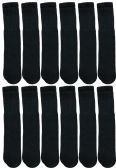 1200 of Yacht & Smith 28 Inch Men's Long Tube Socks, Black Cotton Tube Socks Size 10-13
