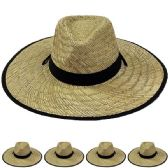 12 of Wide Brim Bamboo Straw Lightweight Man Sun Hat