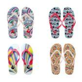 96 of Womens Rainbow Flip Flops