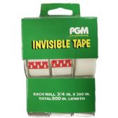48 of 3/4 x 300 Inch Clear Invisible Tape