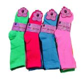 36 of Three Pair Ladies Crew Sock Solid Neon Colors